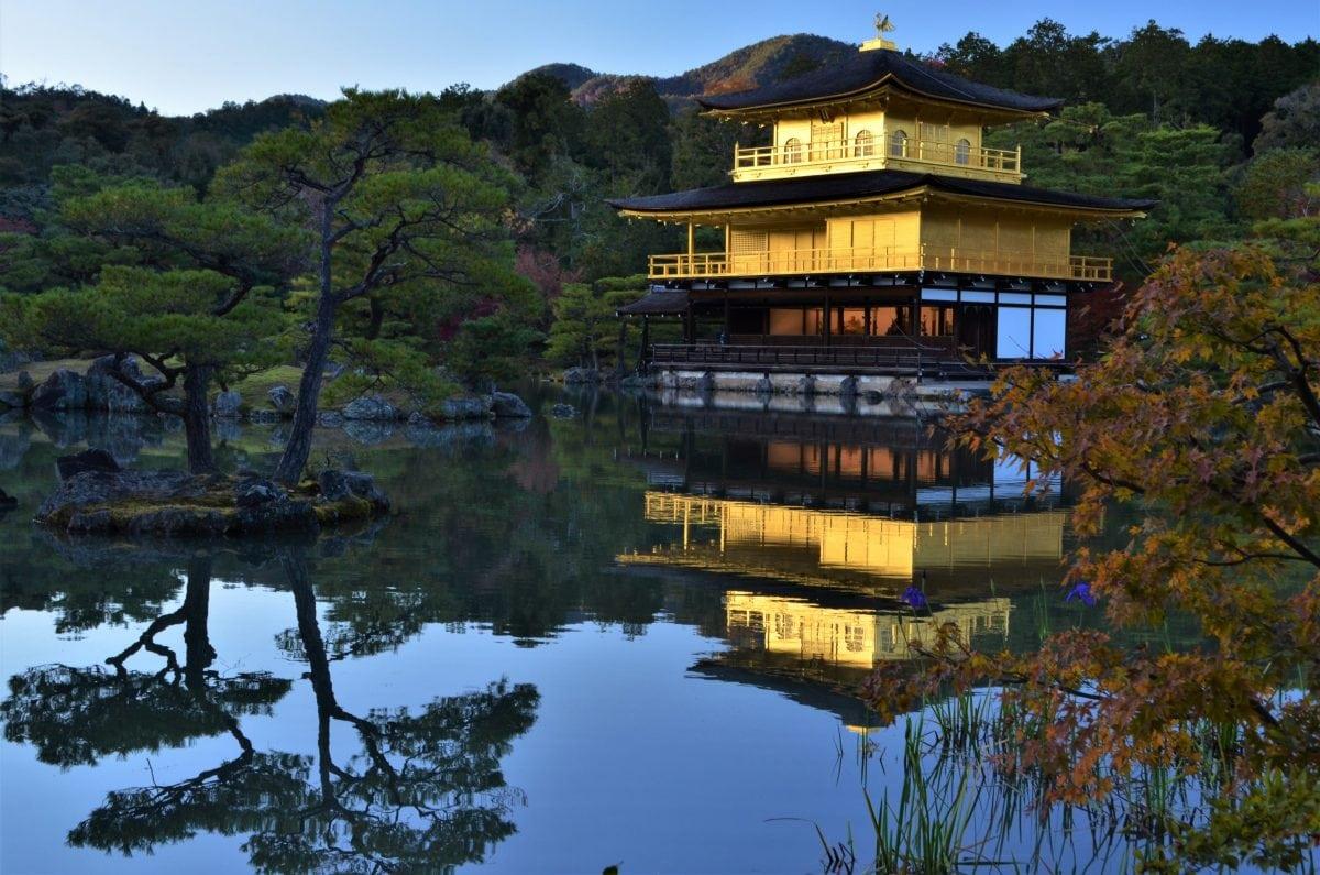 PhotoPOSTcard: Kyoto's Golden Pavilion – Kinkaku-Ji Temple