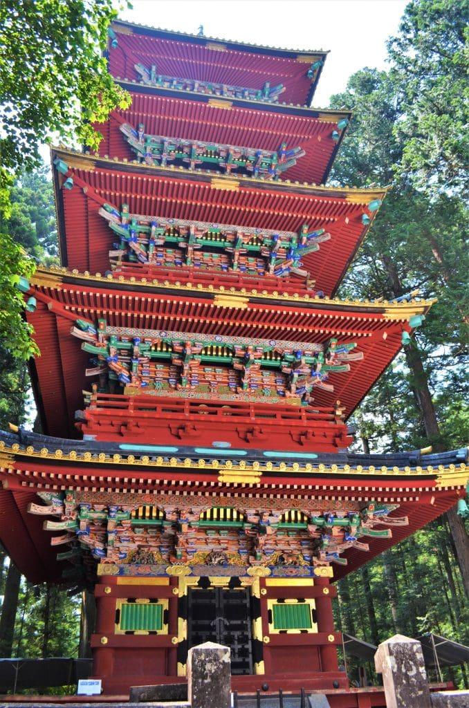 Toshogu five story pagoda