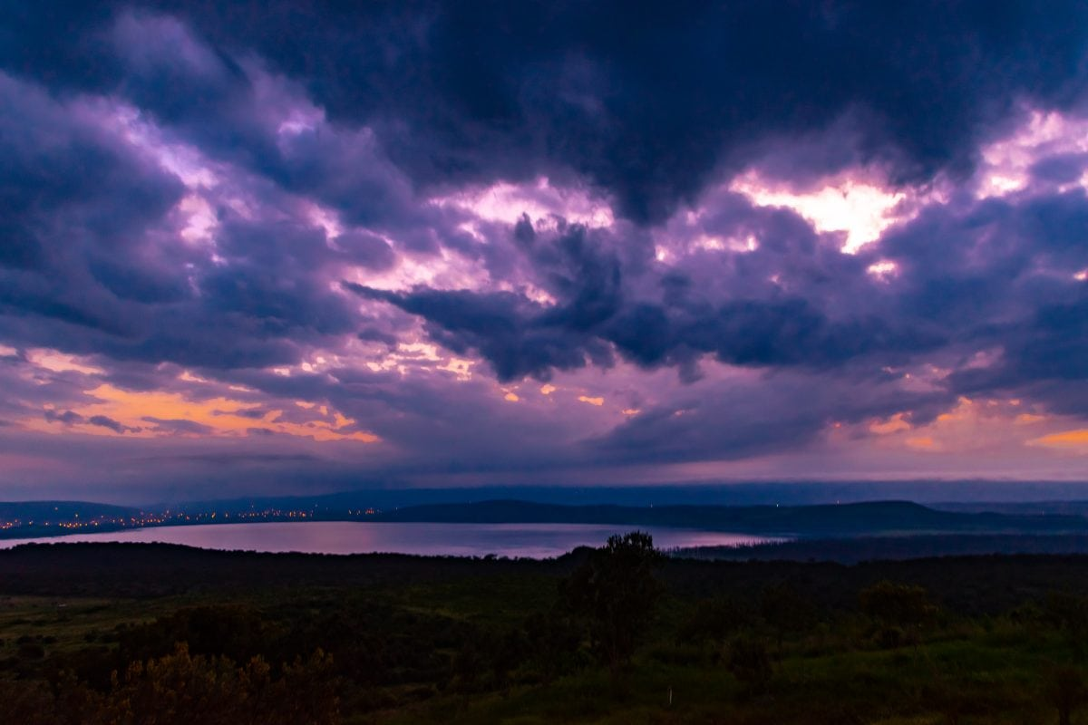 PhotoPOSTcard: Sunrise Over Lake Nakuru