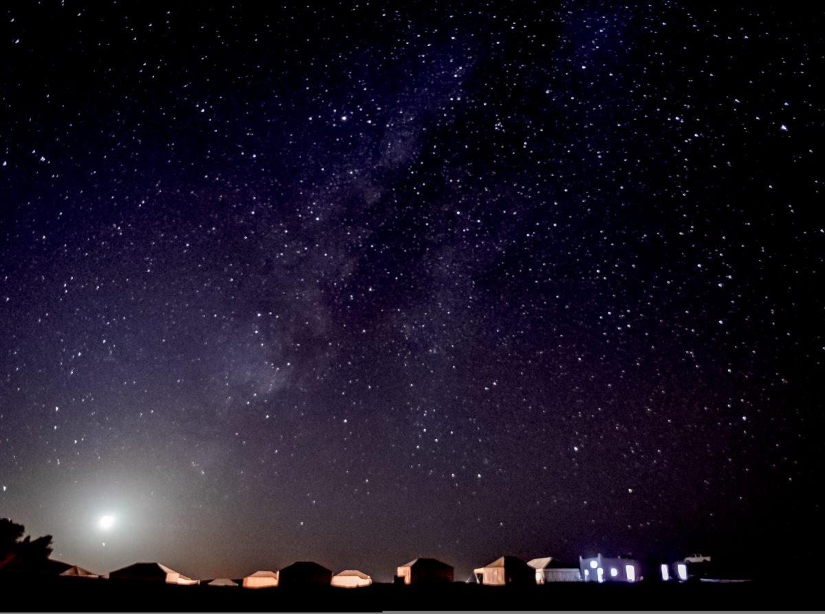 Milky way over the Moroccan Sahara
