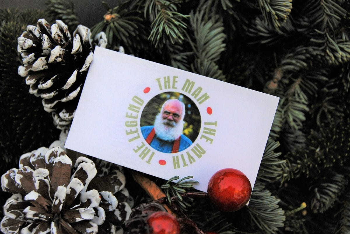 the real Santa Claus business card