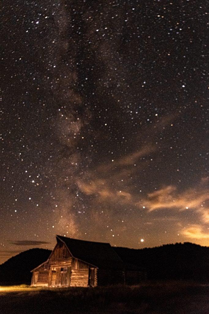 Milky Way over the Moulton Barn, Teton National Park