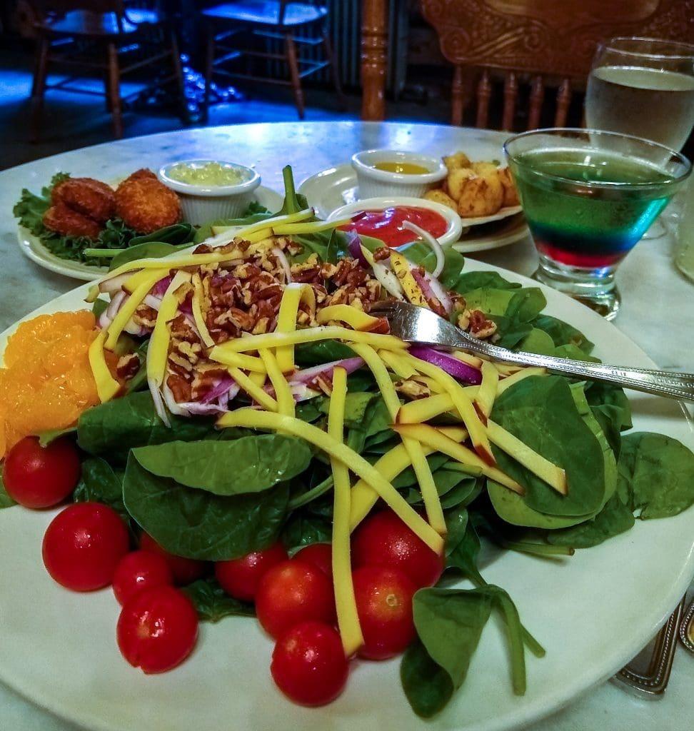 Dinner at the CHena Hot Springs Resort restaurant