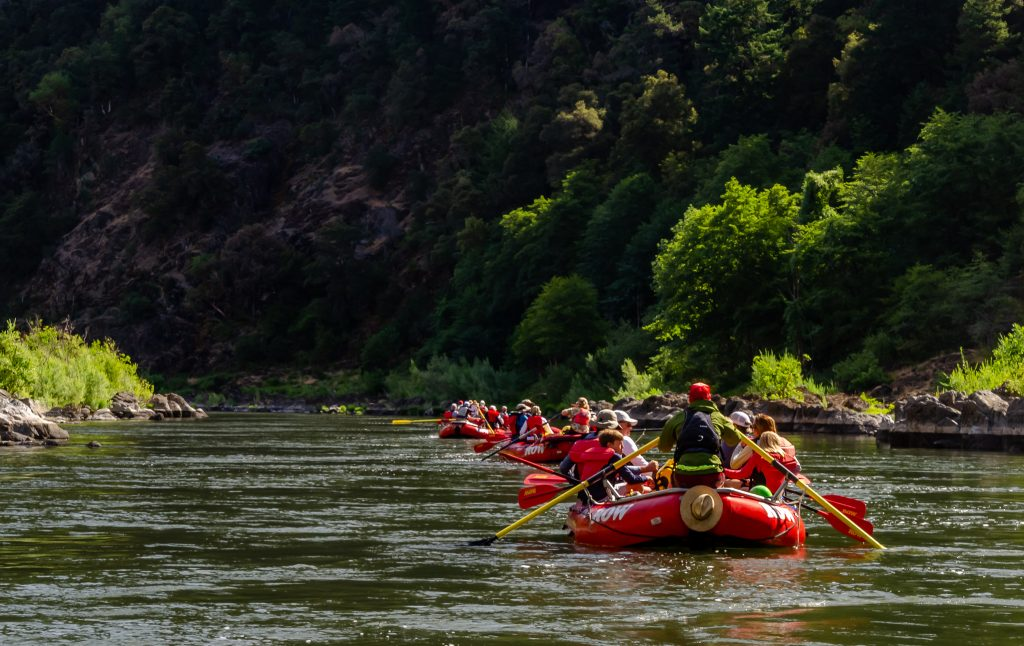 Starting our rafting trip on the Rogue River