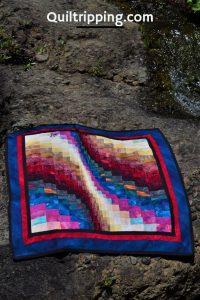 Sharing my first bargello quilt design #quilt #bargello #bargelloquilt