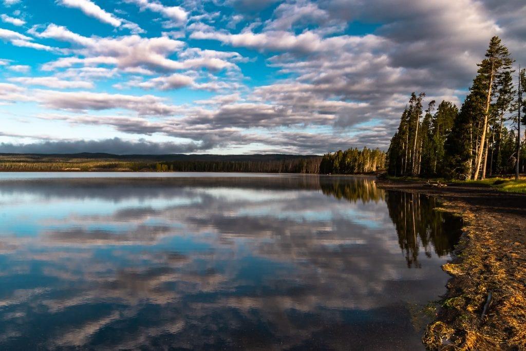 Early morning on Yellowstone Lake