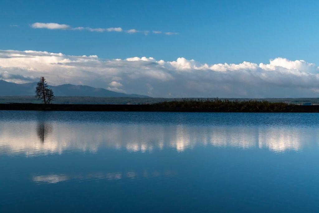 Yellowstone Lake reflection