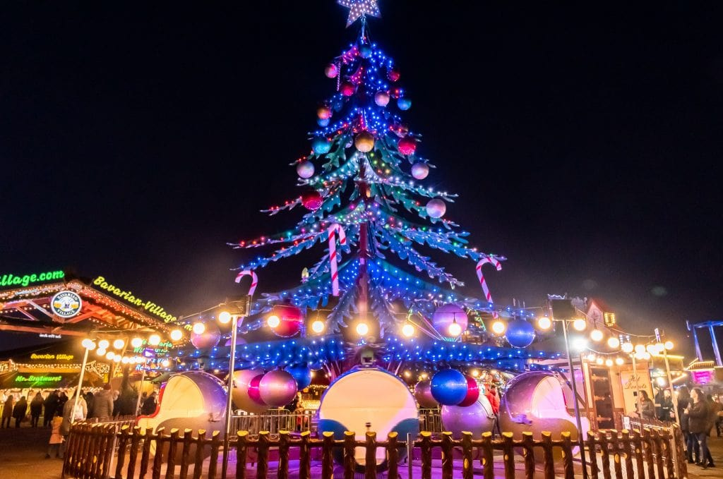 The Christmas Tree Ride at Winter Wonderland