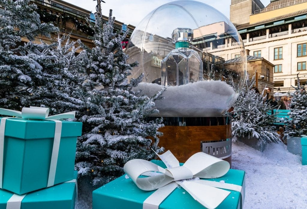 Tiffany Christmas display at Covent Garden