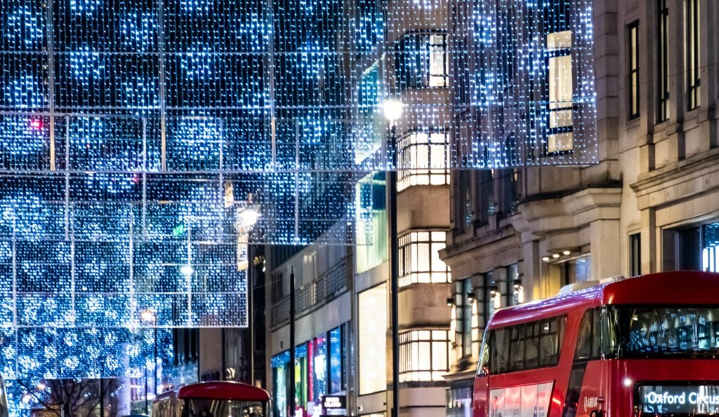 The lights over Oxford Street