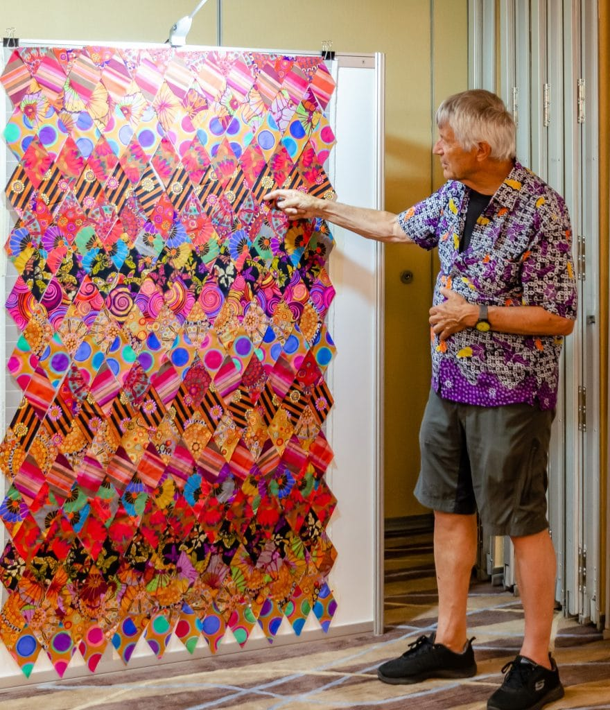 Kaffe discusses one more of the class quilts