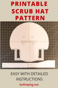 An easy scrub hat patterns with printable and detailed instructions