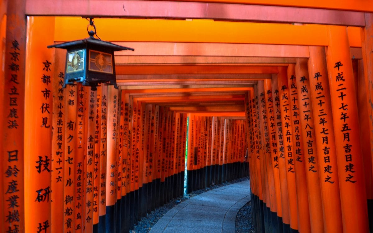 Tori gatess in Kyoto