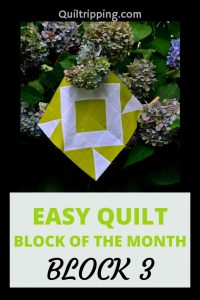 Block 3 of an easy quilt block of the month program