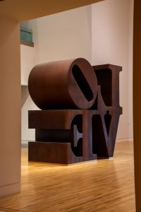 The first LOVE sculpture made by Robert Indiana