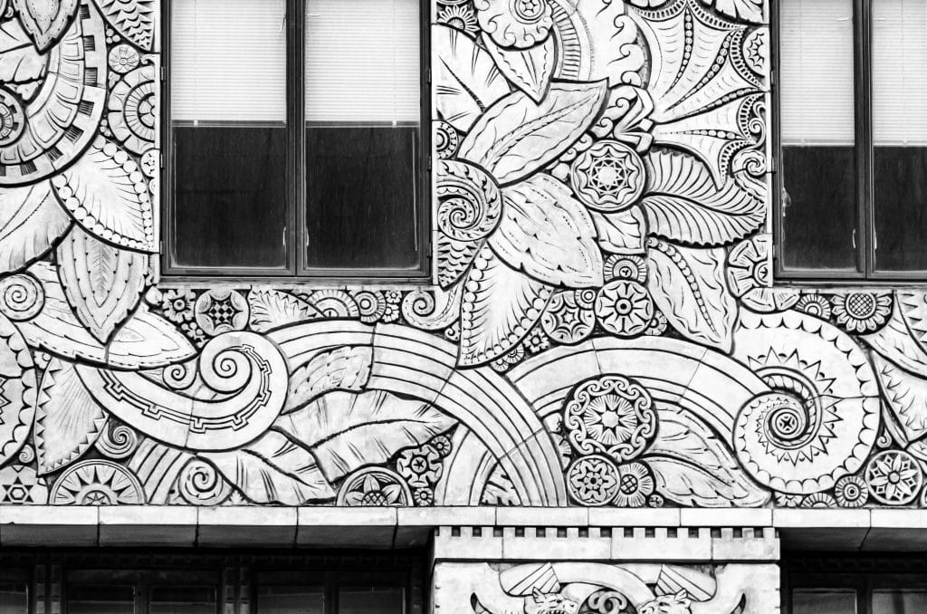 These flower and leaf detail run the full length of the Chanin Building