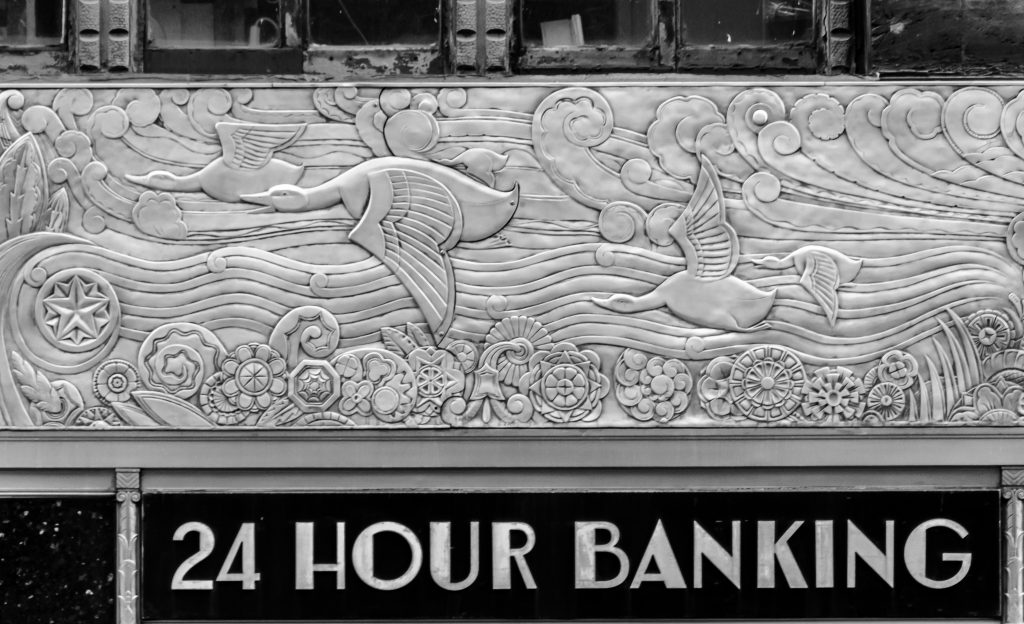 The evolution frieze on the Chanin building