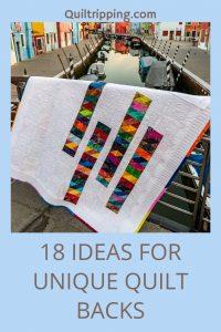 18 ideas for unique quilt backs