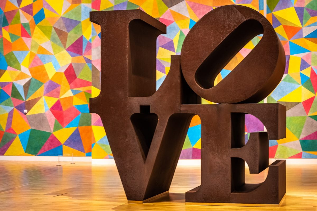 Discovering artistic Indianapolis with the Robert Indiana LOVE sculpture at the Indianapolis Museum of Art