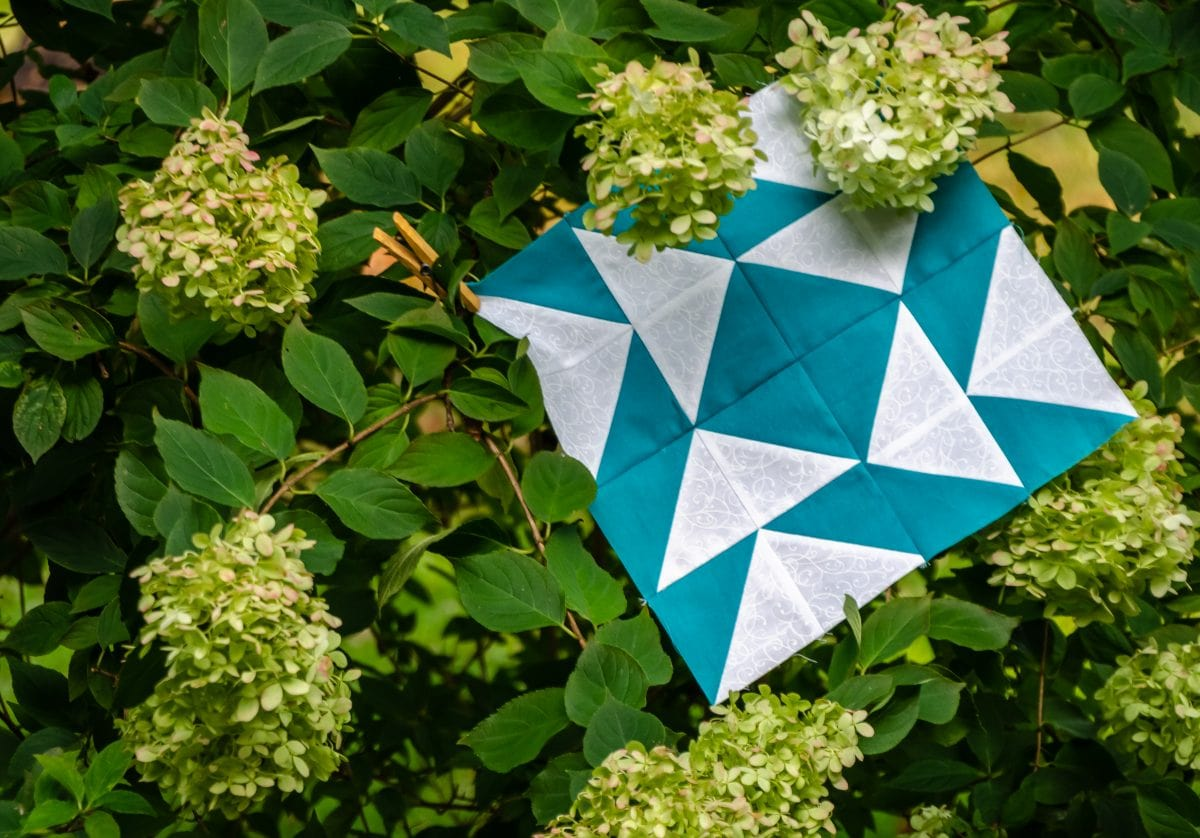 Triangle Fourplay – An Easy Quilt Block of the Month – Block 4