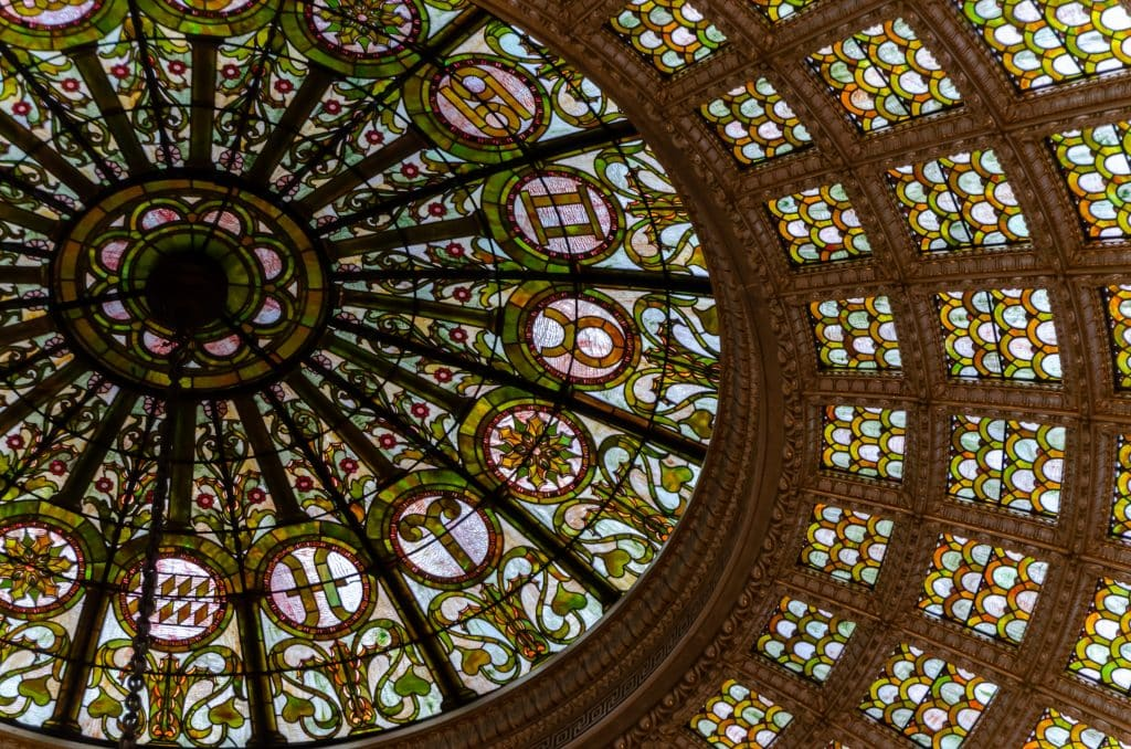 The Tiffany dome at the Chicago Cultural Center