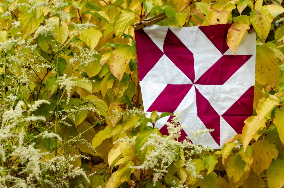 Triangle Fourplay – An Easy Quilt Block of the Month – Block 5