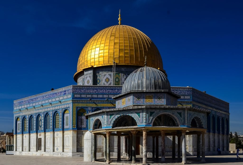The Dome of the Rock and the Dome of the Chain on the Temple Mount