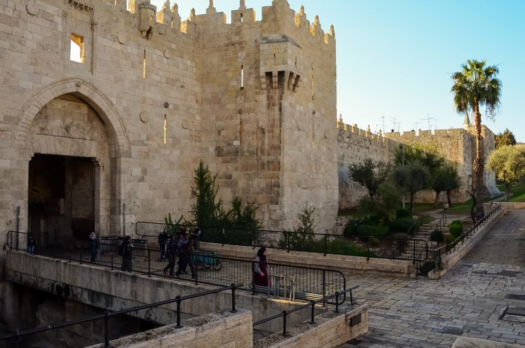 Jerusalem's Damascus Gate built in 1537 by Suleyman the Magnificent