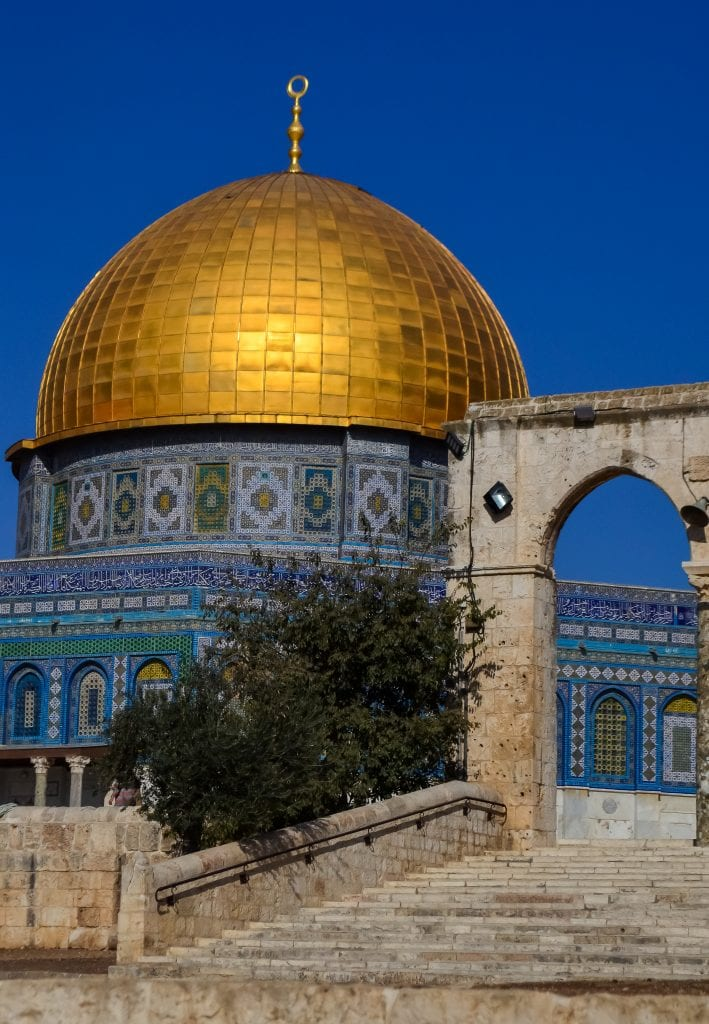 Our first views of the Dome of the Rock