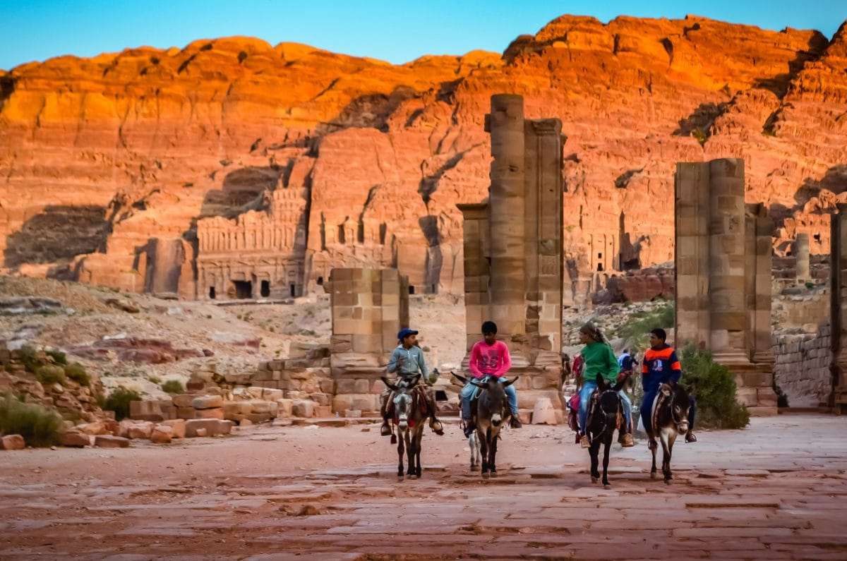 donkey riders of Petra
