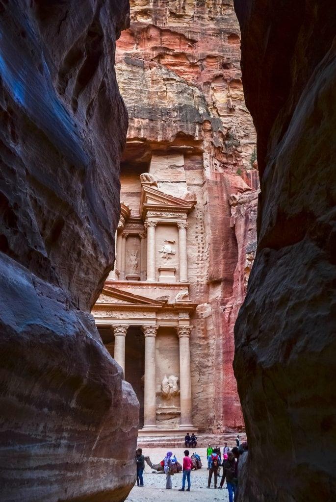 First views of Petra's Treasury