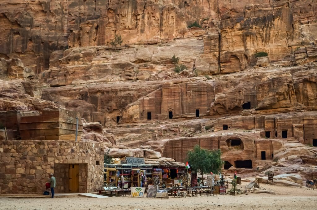 One of the modern bathroom facilities in Petra