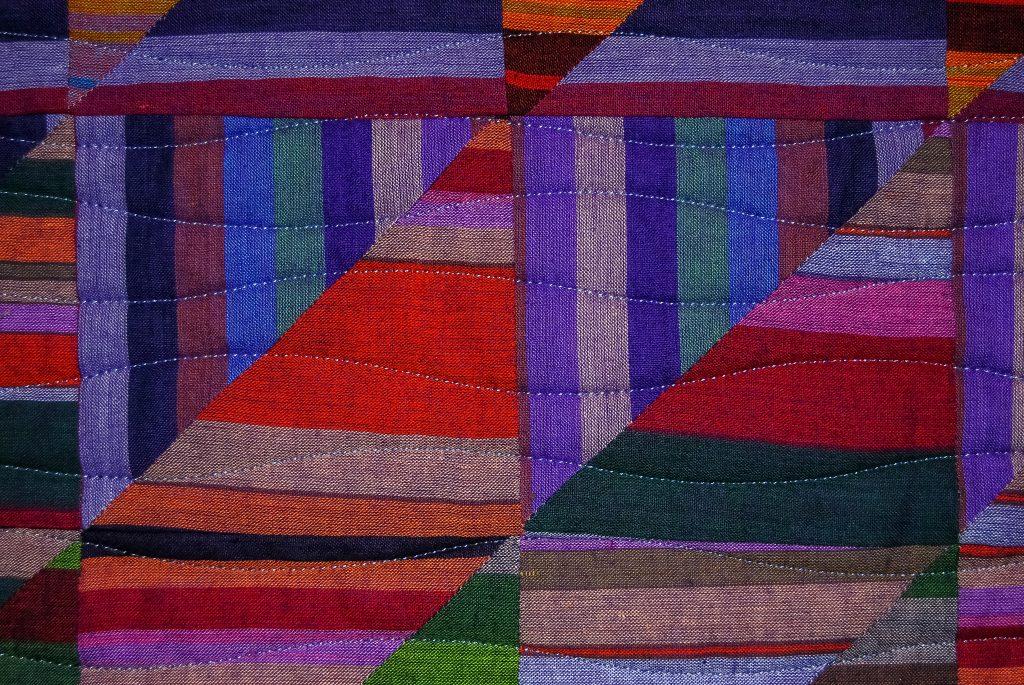 Detail of my Bedouin Desert Blanket quilt