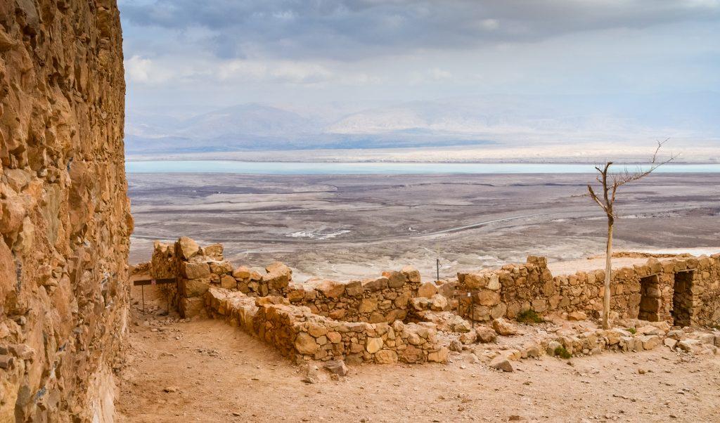 Looking toward the Dead Sea from Masada
