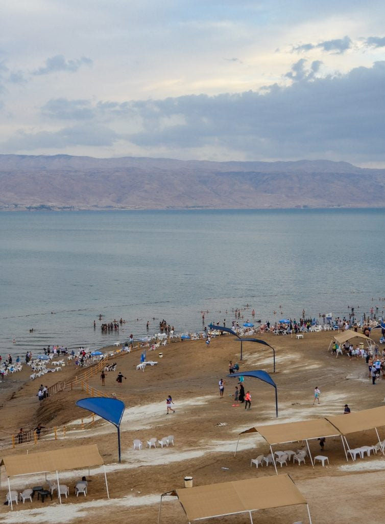 Looking out over the Dead Sea